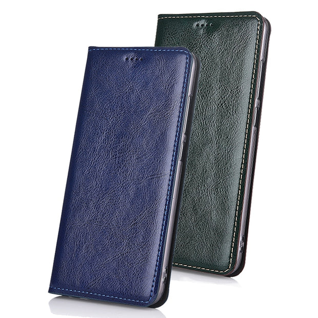 Genuine Cow Leather Card Design Case Cover For Huawei Honor X2 & Media Pad X2 Case Stand Flip Classic Phone Cover