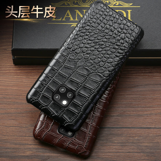 Genuine Leather Luxurious Phone Case For Huawei Mate 20 10 Pro Mate 9 Pro Honor 9 Business Personality Protective Case