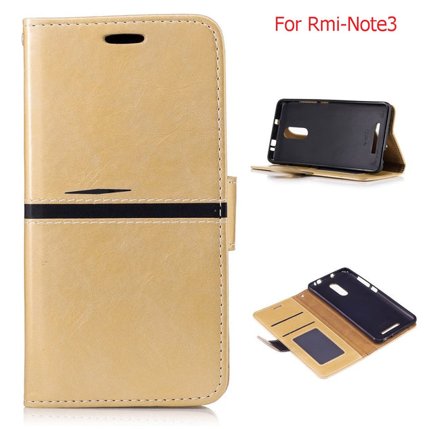 "Gold PU Leather Case For Xiaomi Redmi Note 3 5.5""/ Xiaomi Redmi Note 3Pro Card Holder Cover For Xiaomi Redmi Note 3Pro Kickstand"