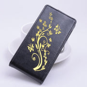 Gold Paillette High Quality Leather Case For ASUS Zenfone 2 Laser ZE500KL Case 5.0 Inch Flip Cover Cellphone Cases