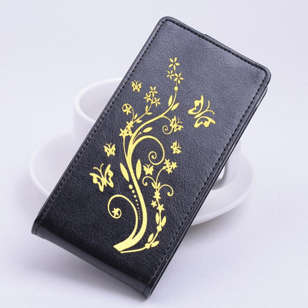 Gold Paillette High Quality Leather Case For SAMSUNG Galaxy Ace 4 / G313 Case Flip Cover Housing For SAMSUNG Ace4 G 313 Shell