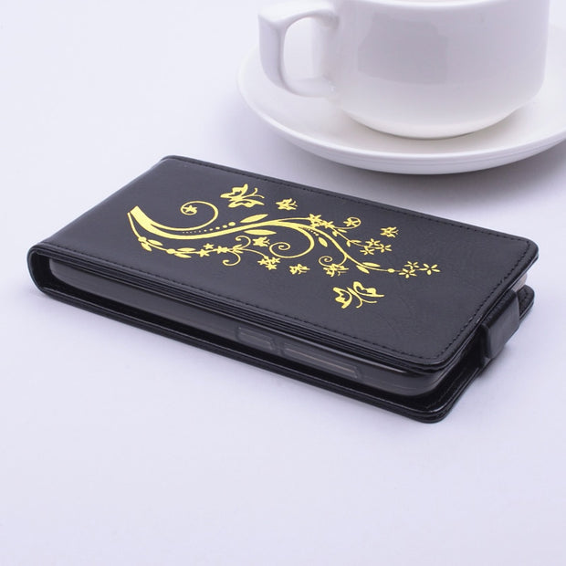 Gold Paillette High Quality Luxury Leather Case For Lenovo A536 Case For Lenovos A 536 Cover Phone Housing Flip Shell