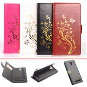 Gold Paillette Sequin High Quality Leather Case For UMi Touch Flip Cover UMi Touch Wallet Covers Phone Cellphone Cases