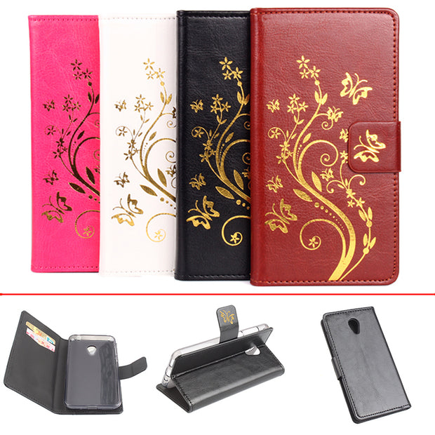 Gold Paillette Sequin Silicone Leather Case For MeiZu M2 Mini Flip Cover Case M578M 5.0'' Wallet Covers Phone Cellphone Cases
