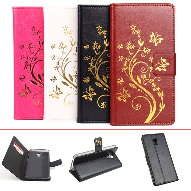 Gold Paillette Sequin Silicone Leather Case For MeiZu M2 Note Flip Cover Meilan M2 Note 5.5'' Wallet Covers Phone Cellphone Case