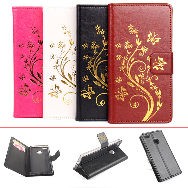Gold Paillette Sequin Silicone Leather Case For XiaoMi Mi4S M4S Flip Cover XiaoMi M 4S Wallet Covers Phone Cellphone Cases