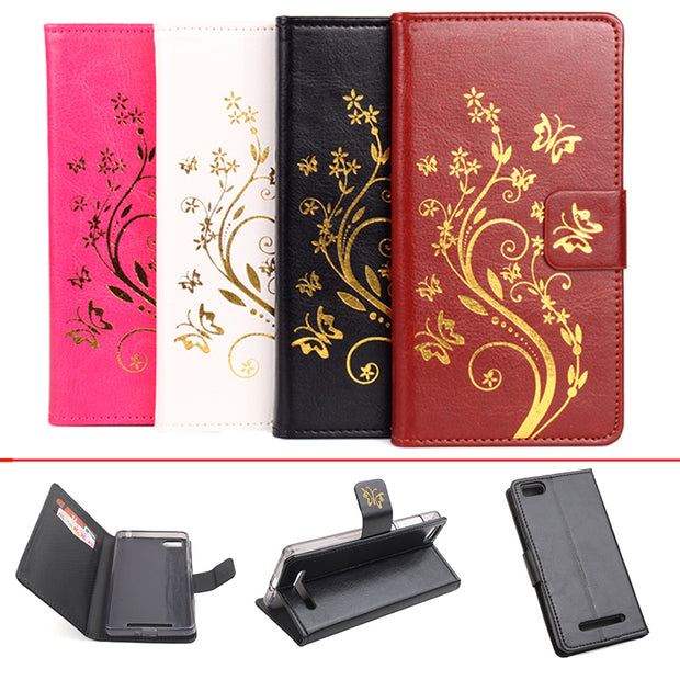 Gold Paillette Sequin Silicone Leather Case For XiaoMi Mi4i / Mi4C Flip Cover Xiao Mi M 4C 4i Wallet Covers Phone Cellphone Case