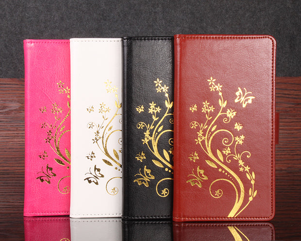 Gold Paillette Sequin Silicone Leather Case For Xiaomi RedMi Note 2 Flip Cover RedMi Note2 Wallet Covers Phone Cellphone Cases