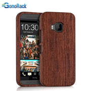 GonoRack 100% Real Natural Bamboo Wooden Case For HTC One M9 Handmade Handcrafted Wood Hard Back Case Cover For HTC M9
