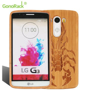 GonoRack Wooden Back Cover Protective Case For LG G3 Original High Quality Personality Hard Mobile Phone Wood Housing For LG G3