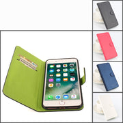 Green Bottom For IPhone 8 Plus Case Phone Cover Brand Excellent Leather Flip Cover 5.5inch Mobile Phone Set 4 Color