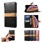 Haissky PU Leather Case For IPhone X XS MAX XR Leather Phone Case For IPhone 7 8 Plus 6 6S Plus Luxury Crocodile Thin Slim Cover