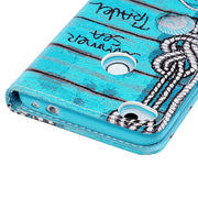 Handmade Rhinestone Starfish Leather Case For Huawei P8 Lite 2017 For Sony Xperia XA1 X Compact Bling Glitter Flip Wallet Bag T3