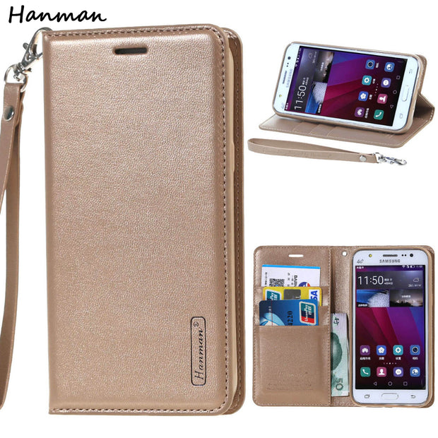 Hanman Original Leather Case For Samsung Galaxy S7 Edge S8 Plus S6 Cover Wallet Flip Book Card Holder For Samsung S7edge S8Plus