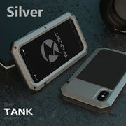 Silver phone case