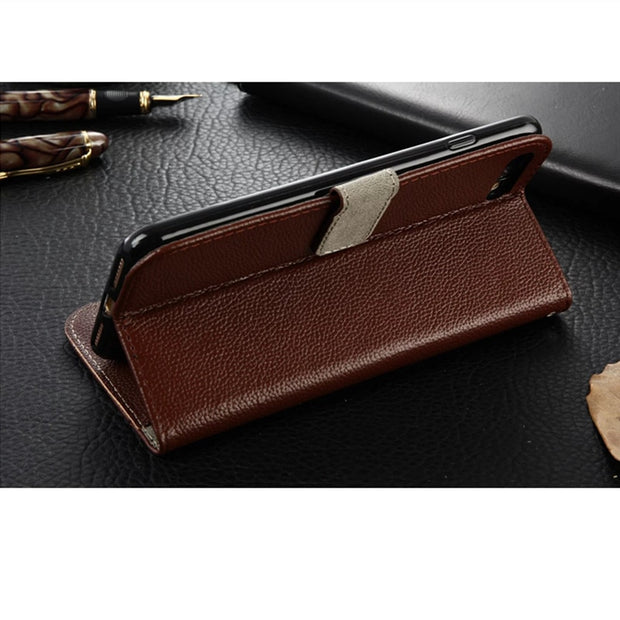 HengLiTai Phone Cases For Iphone 6 6s Case For Apple Iphone 7 7Plus Case Leather Wallet Stand Card Holder Phone Cover Holster