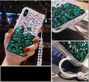 High Quality DIY 3D Luxury Bling Crystal Rhinestone Back Phone Cases For Samsung Galaxy A3 A5 A7 J3 J5 J7 2016 2017 Cover