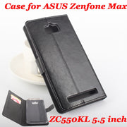 High Quality Leather Case For ASUS Zenfone Max ZC550KL 5.5 Inch Flip With Card Slot For ZC550KL Leather Cover Case Phone Cases