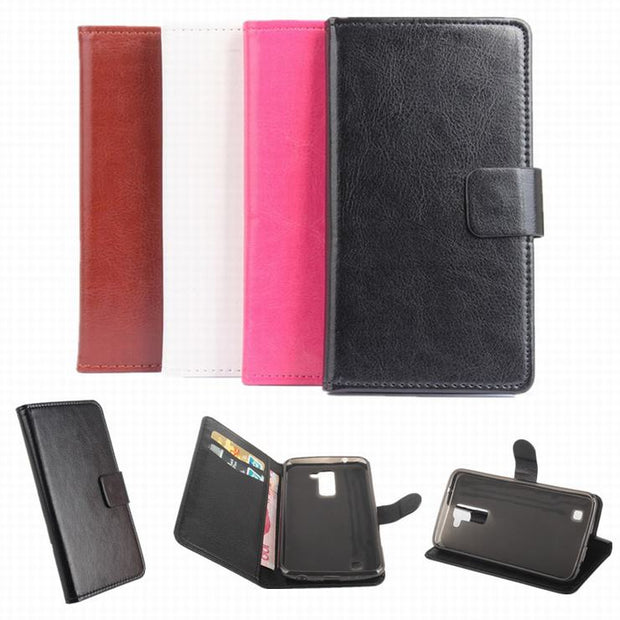 High Quality Leather Case For LG K10 / M2 F670 Flip Cover Case With Card Slot For LG M2 F670 Leather Cover Case Phone Cases