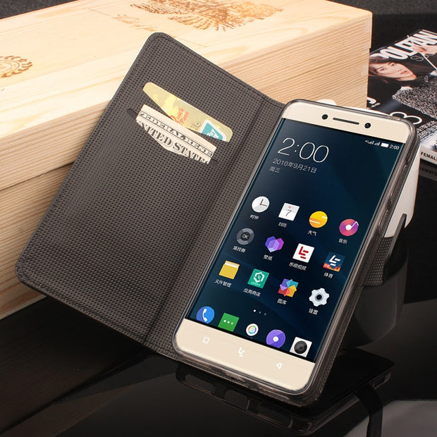 High Quality Leather Cellphone Case For Letv LeEco Le Pro 3 Flip Cover Case With Card Slot Le3 Pro X720 5.5'' Cover Phone Cases
