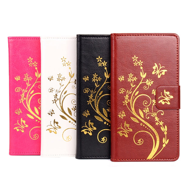 High Quality Leather Cellphone Case For MEIZU M5 Mini 5.2 Inch Flip Cover Case With Card Slot Meilan 5 Cover Phone Cases