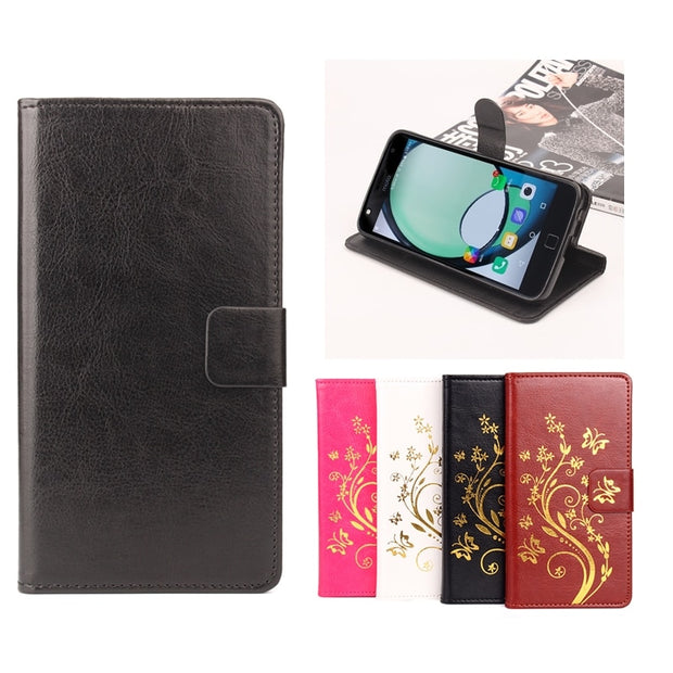 High Quality Leather Cellphone Case For Motorola Moto Z Play Flip Cover Case With Card Slot For Moto Z Play Cover Phone Cases