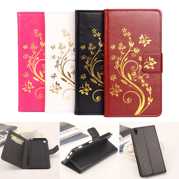 High Quality Leather Cellphone Case For Sony Xperia XZ Flip Cover Case With Card Slot For Sony Xperia XZ F8332 Cover Phone Cases
