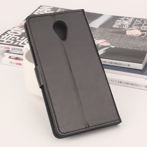 High Quality Leather Cellphone Case For Wiko Robby / S-Kool Flip Cover Case With Card Slot For Wiko S Kool Cover Phone Cases