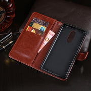 Holster Case For Cubot R9 Case 5.0 Inch Luxury Flip Wallet Retro Leather Cases For Cubot R9 Cover Stand Function Card Holder