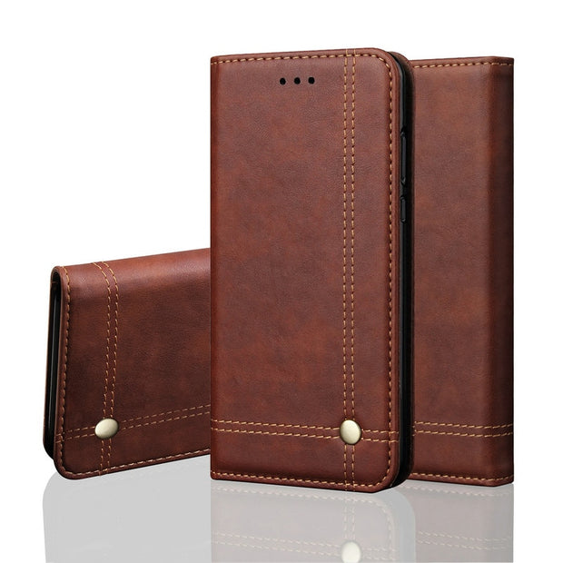 "Honor 7A Pro Leather Cases For Fundas Huawei Honor 7A Pro Prime Case Coque Honor 7A Pro 5.7"" Cover Honor7A Pro Flip Wallet Case"