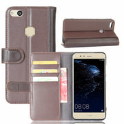 Hot Selling Huawei P10 Lite 5.2inch Case Luxury Flip Genuine Leather Phone Back Cover For Huawei P10 Lite With Card Slots