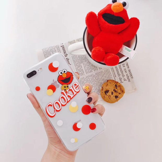 Hot Sesame Street Cute Cartoon Cookie Soft Silicon Cover Case For