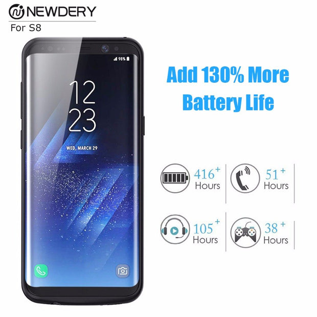 Hot Sell Battery Charging Case For Samsung S8 Plus S8+ Note 8 9 Backup Pack Power Bank Case For Galaxy S9 S9+ Note 9