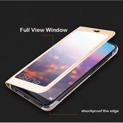 Huawei Honor 10 Case Luxury Full View Plastic Window Luxury PU Leather Flip Cover Funda Huawei Honor 10 Cover Cases