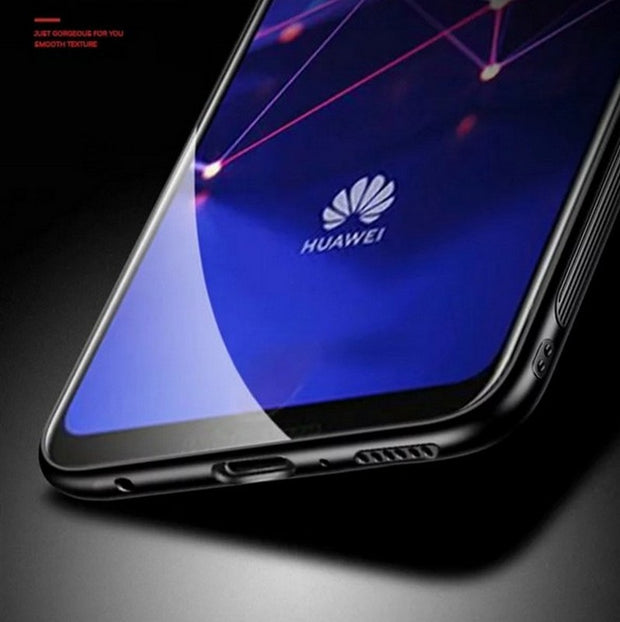 Huawei Mate 20 Lite Case Soft TPU Silicone Tempered Glass Back Cover Bag Phone Case For Huawei Mate 20 Lite Mate20 Lite 6.3""