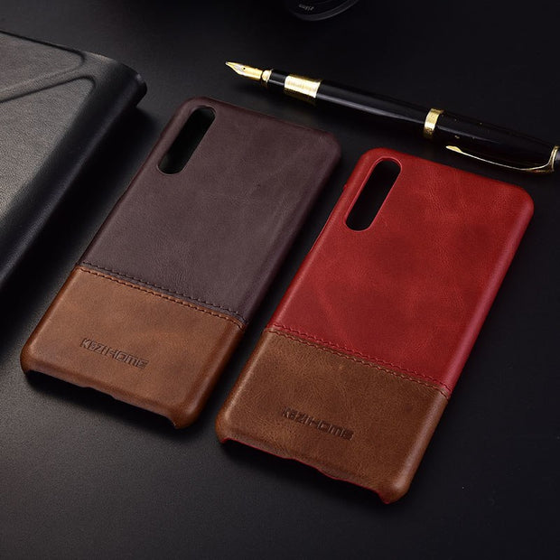 Huawei P20 Case Coque Cover Huawei P20 Lite Case Huawei P20 Pro Genuine Leather Pc Hard Cover For Huawei P 20 Nova 3E Phone Case