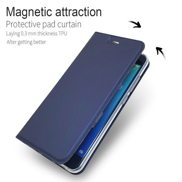 Huawei P8 Lite 2017 Case Luxury Flip Leather Case For Huawei P8 Lite 2017 Protective Wallet Phone Cover P8Lite (2017) 5.2""