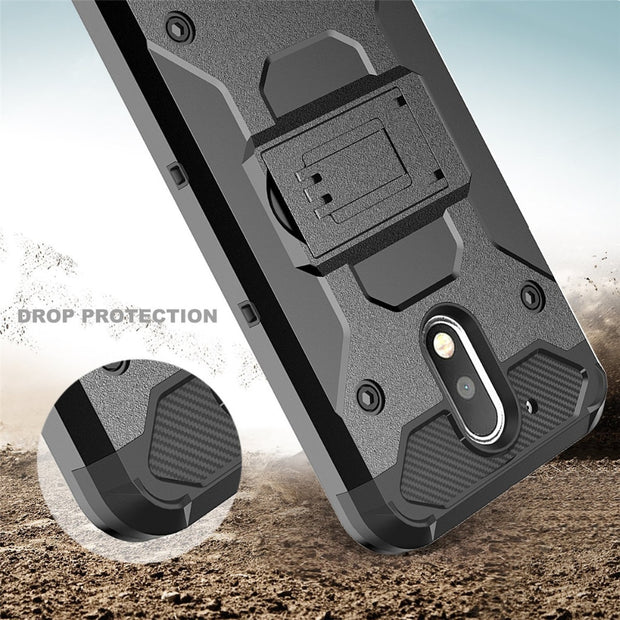Hybrid Armor Stand Plastic Belt Clip Holster Back Shockproof Case Cover For Motorola Moto G4 Plus MOTO G4 With Stylus Pen