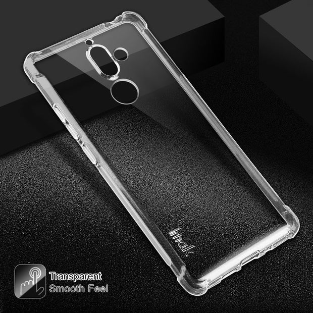 IMAK Black Matte & Clear Case For Nokia 7 Plus Case Armor Silicone TPU Phone Cover For Nokia 7Plus Back Cover Nokia7 Plus Coque