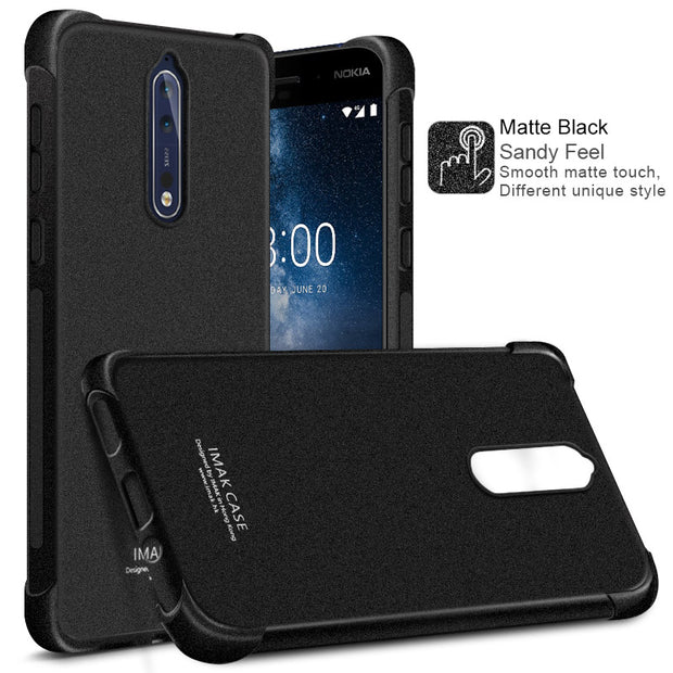 IMAK Super TPU Silicone For Cover Nokia 8 Case Shockproof Matte Transparent Case For Coque Nokia 8 Cover Crystal Case Nokia8