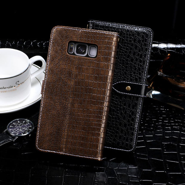 Itgoogo For Samsung Galaxy S8 Case Cover Luxury Leather Flip Case For Samsung S8 G9500 Protective Phone Case Back Cover
