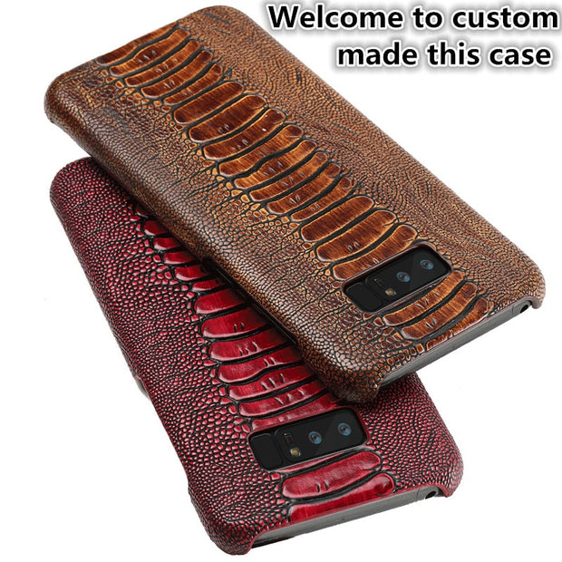 JC12 Ostrich Foot Pattern Genuine Leather Back Case For Asus ZenFone 4 Max ZC520KL Phone Case For ZenFone 4 Max(5.2') Cover