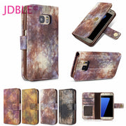 JDBLE Brand Forest Series PU Leather Wallet Cases With Photo Frame Card Slote Cases For Samsung S7 S7edge S8 S8Plus Note8 Couqe