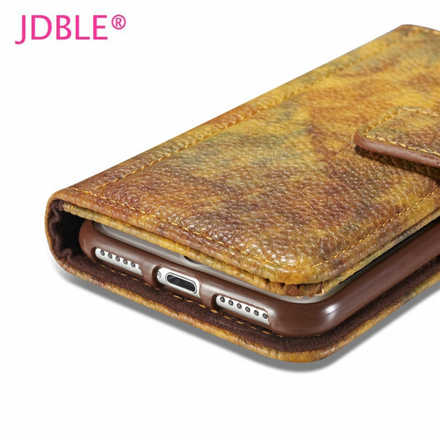 JDBLE Brand Forest Series PU Leather Wallet Cases With Photo Frame Card Slote Cases For Iphone 5S SE 6 6S Plus For Iphone7 7Plus