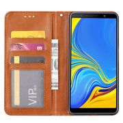KDTONG Case SFor Coque Samsung Galaxy A7 2018 Case Luxury Flip Leather Wallet Cover For Samsung Galaxy A750 A7 2018 Case Cover