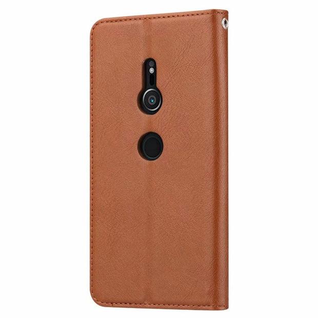 KDTONG Phone Case SFor Coque Sony Xperia XZ3 Case Luxury Flip Leather Wallet Card Slot Cover For Sony Xperia XZ3 Case Cover Capa