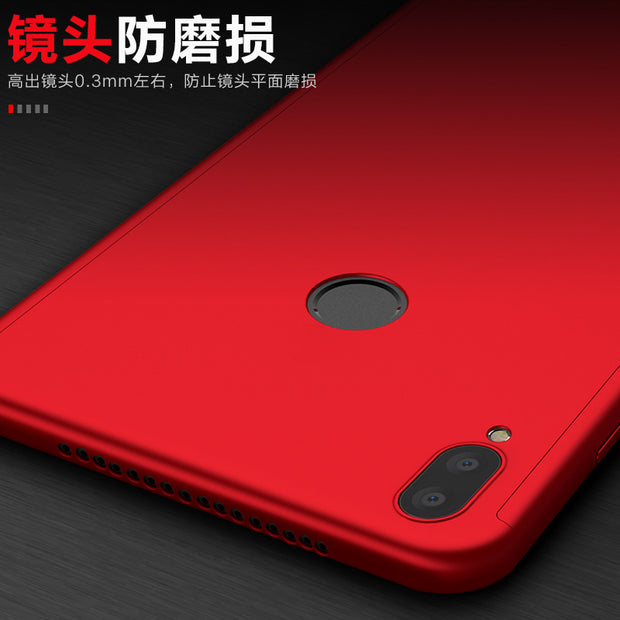 KIYLCZXYCM 360 Full Body Coverage Phone Case For Huawei Honor Note 10 Case Hard Protective Cover For Honor Note10+Tempered Glass