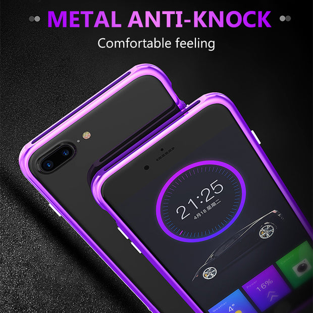 KOMYTOO Aluminum Bumper Phone Case For IPhone 7 8 Case Shockproof Luxury Metal Protective Funda Coque Cover For IPhone 7 8 Plus