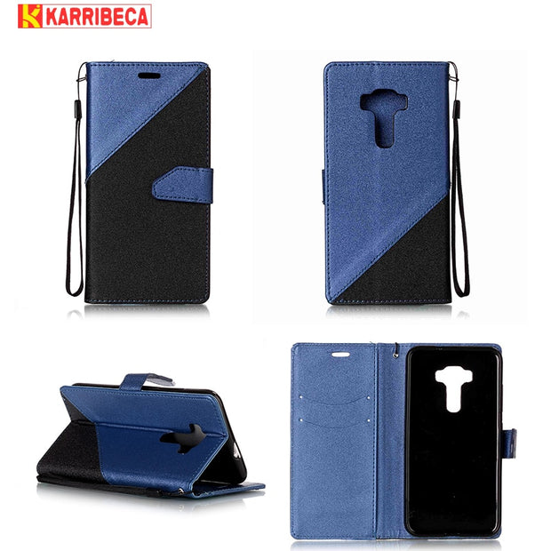Karribeca Flip PU Leather Case For Asus Zenfone 3 Max ZC553KL Cases Wallet Cover Bag Coque Etui Kryty Tok Capa Funda Puzdra Husa