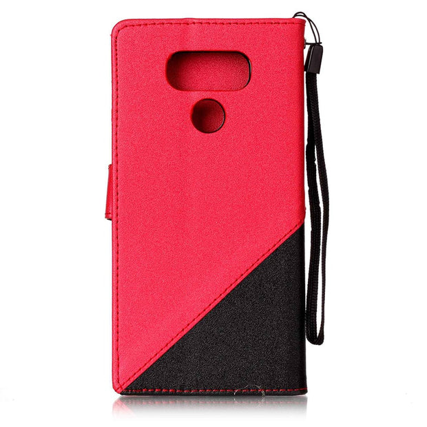 Karribeca Flip PU Leather Case For LG G6 Capa Fundas Combo Dual Colors Money Wallet Cover Hoesje For LG V20 Coque Etui Kryty Tok